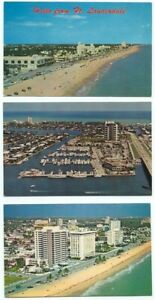 Ft. Lauderdale FL Lot of 3 Postcards ~ florida ~