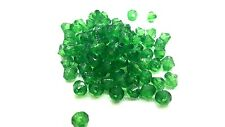 25g - 6mm Dark Green Acrylic Plastic Faceted Bicone Beads -A5318
