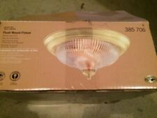 NEW! Hampton Bay Classic Collection Flush Mount Fixture: Swirl Clear Glass Shade