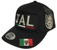 JALISCO [JAL] ALL GREY BANDERA EN LA VICERA LOGO FEDERAL 3 LOGOS HAT BLACK MESH