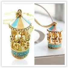 Fashion Carousel Horse Necklace Lady Gold Chin Woman Fashion Cut Sweater ChainG;
