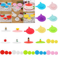 Cute Glass Cup Cover Silicone Cartoon Cup Cover Coffee Mug Suction Seal Lid Cap