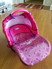 """Graco Baby Doll Pretend Carrier Car Seat Tollytots Fits 12""""-18"""" Travel Euc"""