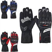 Motorcycle Waterproof/Windproof Gloves Warm Carbon Fiber Black Blue Red M L XL