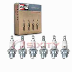 6 pc Champion 843 Copper Plus Spark Plugs for 14-7N 4419643 7543 77-302-1 ud