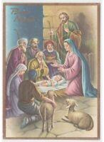 Merry Christmas Card Religious Nativity Jesus Child Shepherd re Magi Nativity