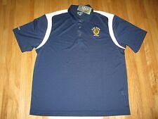 Men's XL Dk.Blue & White Izod Swingflex X-treme Function Cool-FX Golf SS Shirt