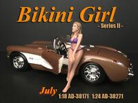 """American Diorama 1:18 Scale (10 cm) Figure - Calendar Girl """"July"""" # AD-38171"""