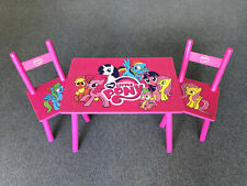 Children's table and 2 chairs My little pony