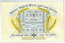 Ansichtskarte Brotkarte Lebensmittelmarke 1. Weltkrieg Berlin Propaganda Politik