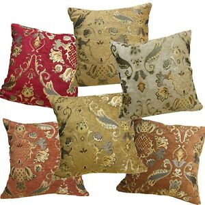 Pillow Cover*Damask Chenille Sofa Seat Pad Cushion Case Custom Size*Wk1