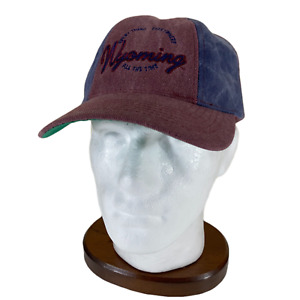 Wyoming Souvenir Hat Cap Snapback Red Blue Everything Everywhere All the time