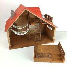 Sylvanian Families Log Cabin En Caja Completa Calico Critters 4370 Vintage