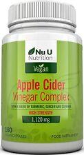 Apple Cider Vinegar - 180 Vegan Capsules not Tablets or Liquid - 1120mg Daily Do