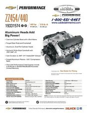 GM Performance Parts ZZ454 469 HP Crate Engine 19331574