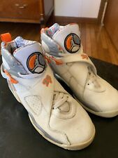 competitive price 22d8a dc8be 2007 Nike Air Jordan 8 Retro Stealth Orange Blaze 305368 -102 Size 7 Y
