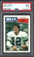1987 Topps #362 JIM KELLY RC HOF Buffalo Bills PSA 9 MINT