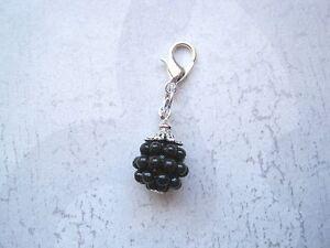 Clip on Bracelet Charm SP CHOOSE Blackberry Raspberry Acorn Cherry Strawberry