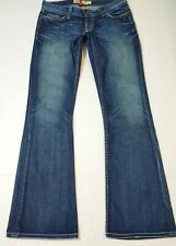 New listing Womens Bke Buckle Boot Cut Sabrina Stretch Low Rise Jeans 29×31.5 (27×33.5) Blue