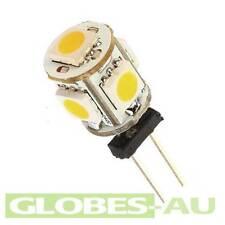 6x 12V G4 WARM WHITE LED LIGHT 5050 5SMD Cabinet Camper Bulb Globe Garden
