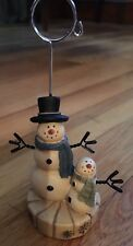 Snowman Christmas Card Holder Nwot