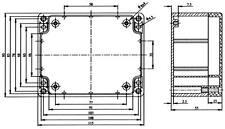 CONTENITORE PLASTICO IN ABS PER ELETTRONICA IP65 - SCATOLA 115X90X55