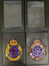 VICTORIA & QLD SECURITY OFFICER BADGE GOLD & NICKEL (NOT POLICE)