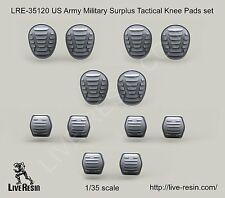 Live Resin 35120 1/35 US Army Military Surplus Tactical Knee & Elbow Pads Set