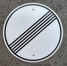 """Autobahn - NO SPEED LIMIT - Sign /  11.5"""" ALUMINUM  -  European Highway - Garage"""