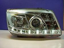 VW Bora Scheinwerfer mit LED Tagfahrlicht Optik Chrom.E.Prüfnummer