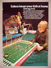 Coleco Electric Football Game 2-Page PRINT AD - 1971 ~ hockey game, sports