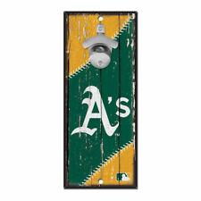 MLB Oakland Athletics A's Bottle Opener Wood Sign Holzschild Holz Wandschmuck
