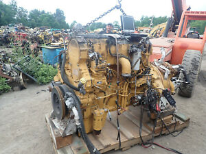 Caterpillar C18 Twin Turbo Diesel Engine RUNS EXC. LOW HOURS!! WJH 700 HP CAT