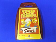 TOP TRUMPS THE SIMPSONS  2000 BART HOMER KRUSTY MR BURNS COMPLETE