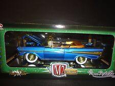 M2 CHEVROLET BEL AIR 1957 convertible Tom Kelly bleu 1/24 poursuite