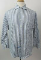 NEIMAN MARCUS 80's 2-Ply 100% Cotton Dress Shirt, 16.5 x 32/33, Striped