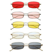 Thin Rectangle Sunglasses Women Metal Small Square Men Sun Glasses 2018 UV400