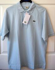 NWT Lacoste Stretch Men's 4 Small Classic Pique Polo Shirt 100% Cotton Lt Blue