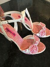 Betseyville Pink And White High Heel Shoe, Size 8