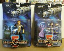 Babylon 5 Delenn & G'Kar Action Figure Lot Wb Toy Lot 1997 Moc New