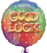 "18"" Amscan Good Luck Rainbow Stars Celebration Foil Helium Balloon"