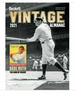 New 2021 Beckett Vintage Almanac Annual Price Guide 7th Edition With Babe Ruth