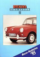 Brekina Prospekt Modellautos 1995 H0 1:87 brochure model cars Mercedes O 303 VW