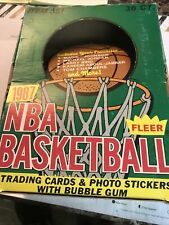 1987 Fleer Basketball Wax Box (empty) ( Michael Jordan 2 nd Year )