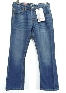 New Signature Levi Strauss Mens Bootcut Flex Stretch Denim Jeans 32 x 30
