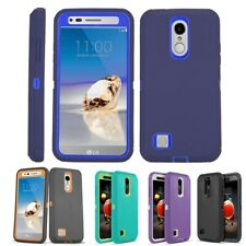 For LG Aristo 2 3/Rebel 4 / Phoenix 4 Hybrid Armor Shockproof Case Phone Cover