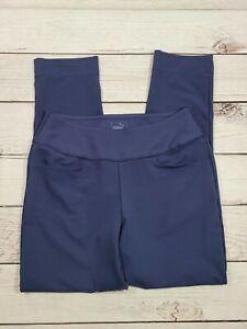 Womens Puma Leggings, Blue Leggings, Puma Active Wear Yoga Workout Pants T5