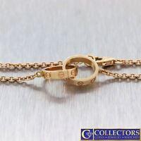 Authentic Ladies Cartier Love 18k Rose Gold Love Chain Bracelet $1630 G8