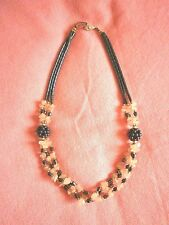 Collana a tre fili di ematite e quarzo rosa - #regaloperlei