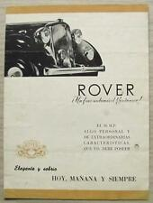 ROVER 16 HP Car Sales Brochure 1946 SPANISH TEXT From Guatemala RARE